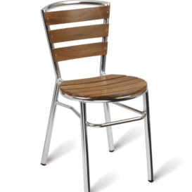 Vera Outdoor Teak Cafe Chair - Simply Tables & Chairs