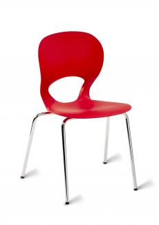 Esse Stacking Cafe Chair - Simply Tables and Chairs - Red