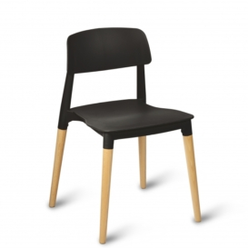 Aluna Cafe Stacking Chair - Simply Tables & Chairs - Black