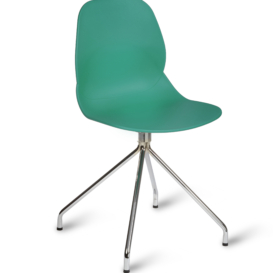 Shore Cafe Chair with Spider Base - Simply Tables & Chairs - Turquoise