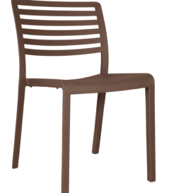 Sophia Outdoor Polypropylene Stacking Cafe Chair - Simply Tables and Chairs - Chocolate
