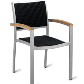 Ville Outdoor Weave Cafe Armchair - Simply Tables and Chairs
