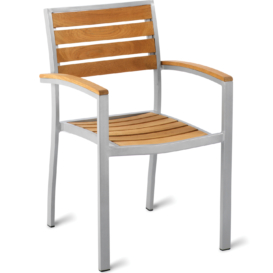 Genevieve Outdoor Teak Cafe Armchair - Simply Tables and Chairs
