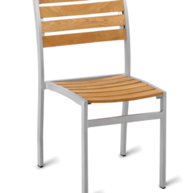 Genevieve Outdoor Teak Cafe Chair - Simply Tables and Chairs