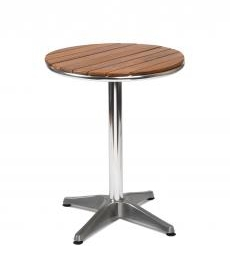 Vera Round Outdoor Teak Cafe Table - Simply Tables and Chairs
