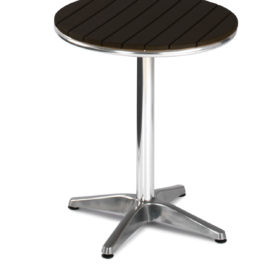 Vera Round Outdoor Wood Effect Cafe Table - Simply Tables and Chairs