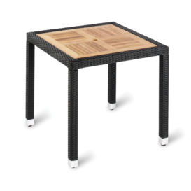 Genevieve Outdoor Square Teak Cafe Table - Simply Tables and Chairs