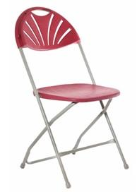 Polyfold Plus Folding Chair - Simply Tables and Chairs - Burgundy