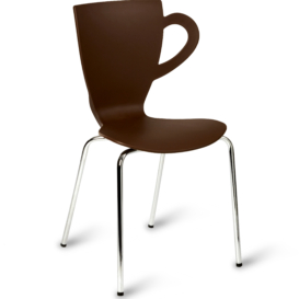 Coffee Stacking Cafe Chair - Simply Tables and Chairs