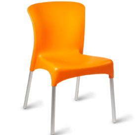 Ella Stacking Cafe Chair - Simply Tables and Chairs - Orange