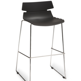 Huxley Cafe Stacking High Stool - Simply Tables and Chairs - Black