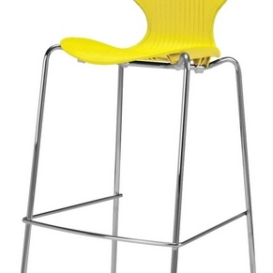 Scoop High Stool - Simply Tables and Chairs - Yellow