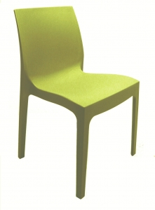 Strava Polypropylene Outdoor Stacking Chair Simply