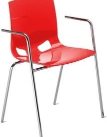 Fondo Armchair - Simply Tables and Chairs - Red