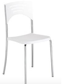 Lula Cafe Chair - Simply Tables and Chairs - White